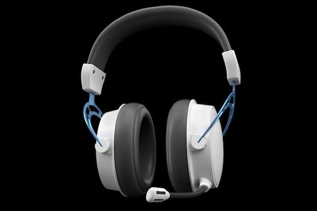 D-weergave van gaming-hoofdtelefoons met microfoon voor cloudgaming en streaming