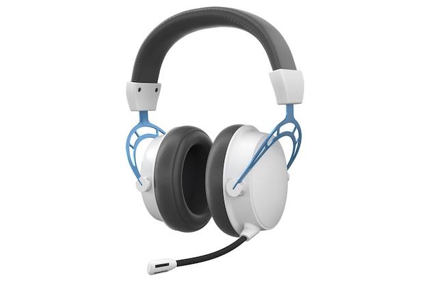 D-weergave van gaming-hoofdtelefoons met microfoon voor gamen en streamen in de cloud