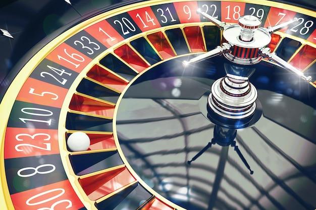 D weergave van roulette