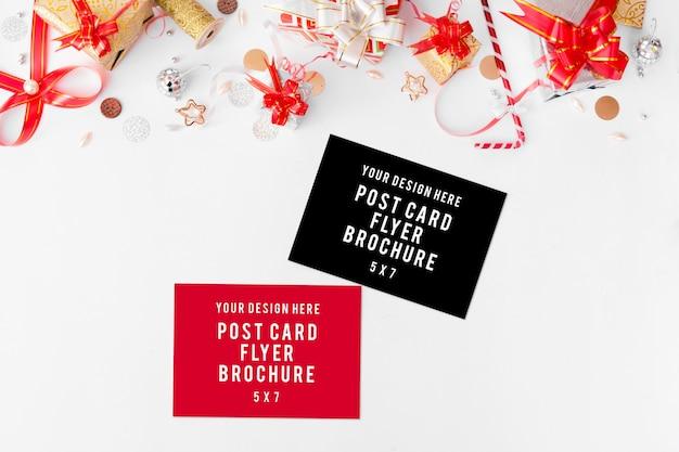 Dagboek postkaart flyer kerstsamenstelling.
