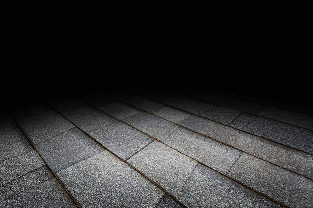 Dak tegel vloer textuur perspectief achtergrond voor weergave of montage van product