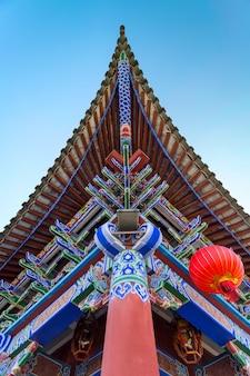 Dak van oude chinese architectuur