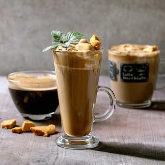 Dalgona koffiedrank