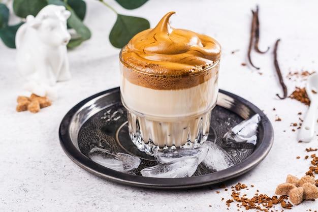 Dalgona koreaanse koffie