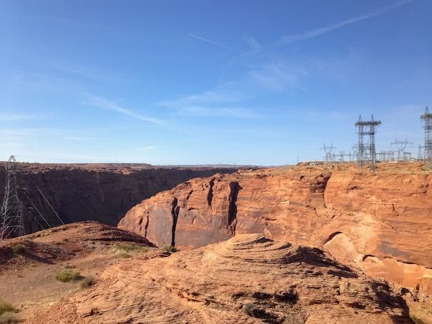 Dam glen canyon in de buurt van de stad page en antelope canyon. verenigde staten van amerika.