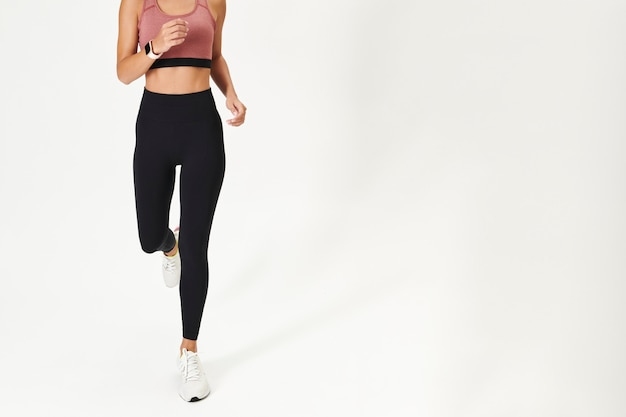 Dames sportkleding mockup active wear-kleding