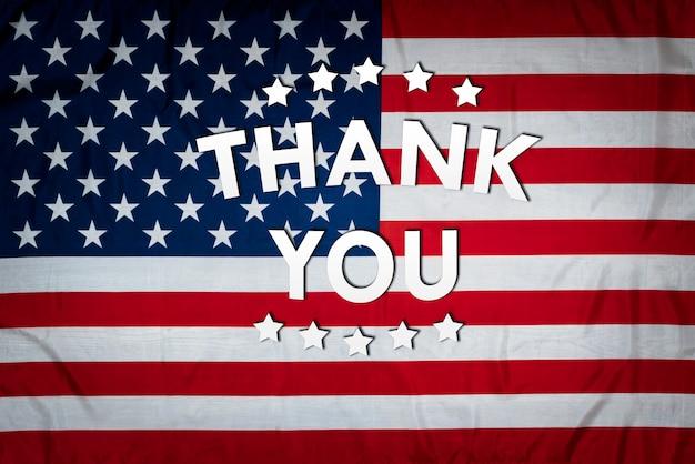 Dank aan amerikaanse veteranen en soldaten