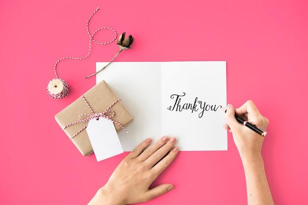 Dank je wel dankbaarheid gift waarde waarderen concept