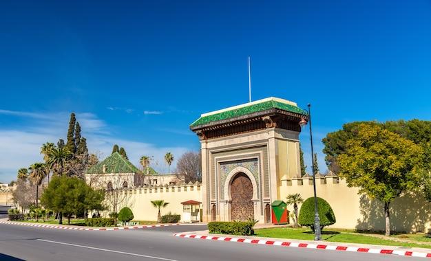 Dar el-makhzen, het koninklijk paleis in fes - marokko