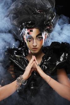 Dark beautiful gothic princess.halloween-feest.