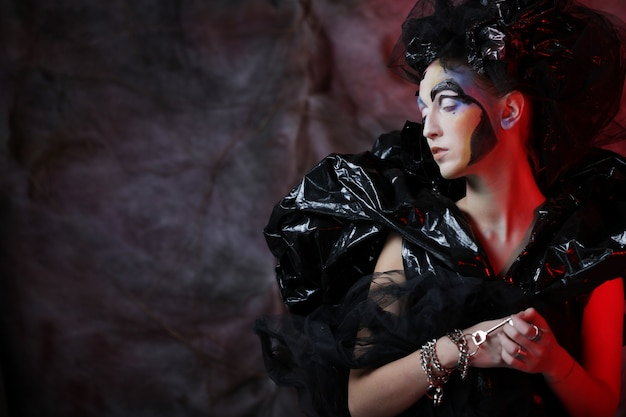Dark beautiful gothic princess.halloween