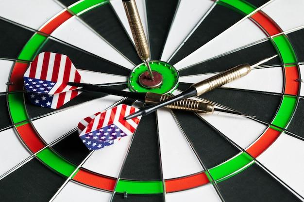 Dartbord bedrijfsconcept succes