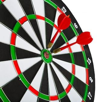 Dartbord met darts