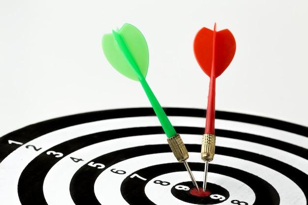Darten in bullseye