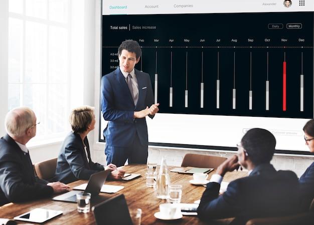 Dashboard diagram analyse statistieken concept