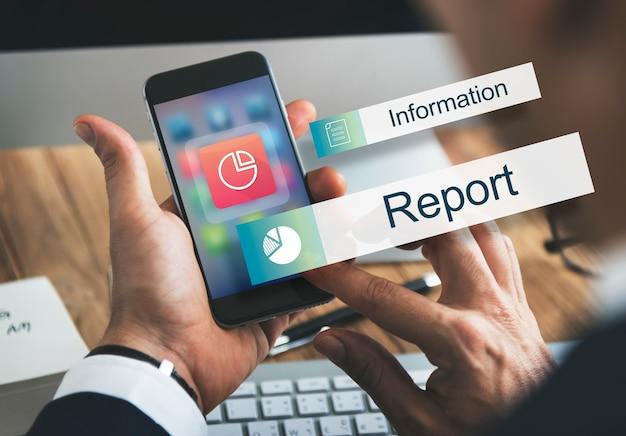 Data informatie analytics prestaties concept