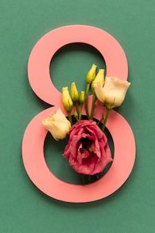 Datum met rozen voor vrouwendag