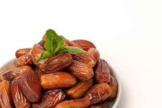 Datumsfruit, met munt voor ramadan