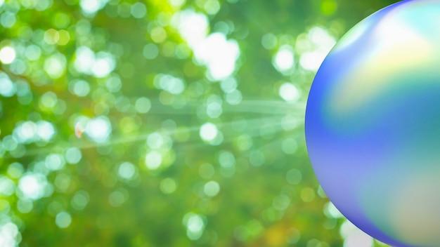 De aarde en groene bokeh voor ecologie of eco concept 3d-rendering