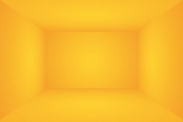 De abstracte achtergrond van de de studiomuur van de luxe gouden gele gradiënt