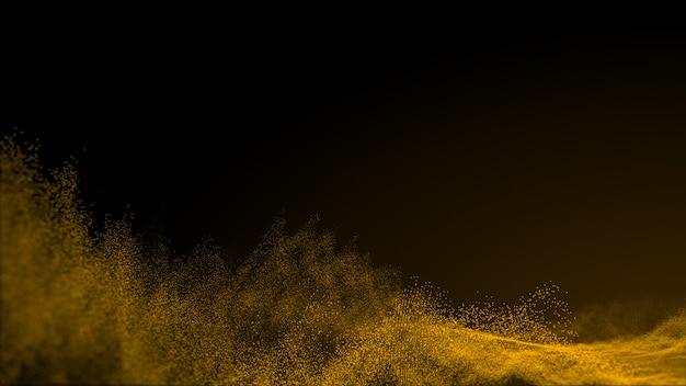De abstracte achtergrond van golfdeeltjes, puntgolf. bokeh deeltjes achtergrond.