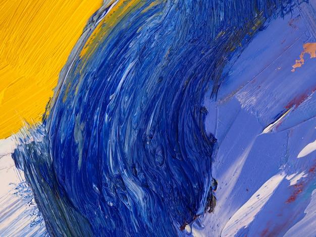 De abstracte blauwe achtergrond van de verfborstelslag.