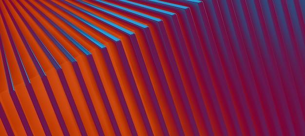 De abstracte kleurrijke metalen achtergrond. 3d illustratie