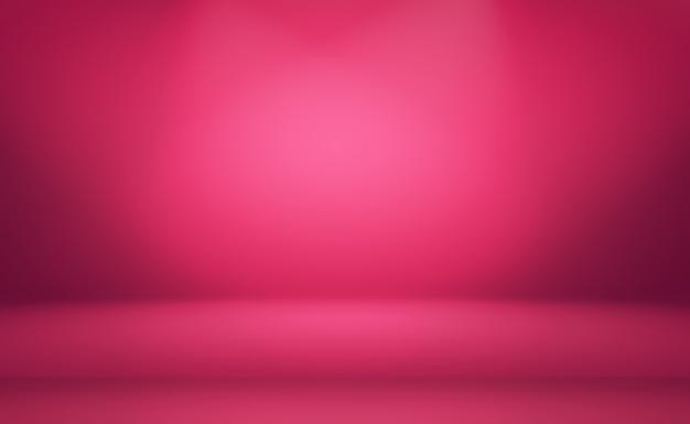 De abstracte lege vlotte lichtroze achtergrond van de studioruimte