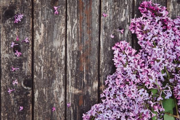 De achtergrond van de moederdag met lila bloemen