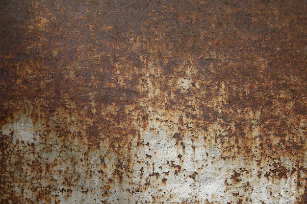 De achtergrond van het roestmetaal, oud metaalijzer en geroeste metaaltextuur.
