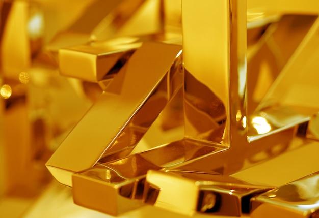 De achtergrond van het zuivere goudstaafoppervlak vertegenwoordigt het conceptidee van het bedrijf en de financiën.