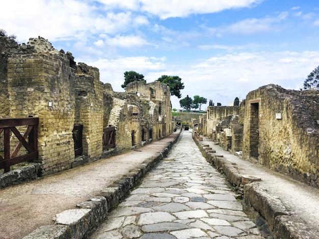 De archeologische vindplaats van herculaneum