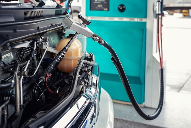 De auto was gevuld met gas