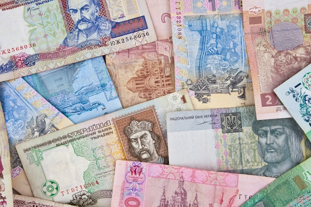 De bankbiljetten uit oekraïne