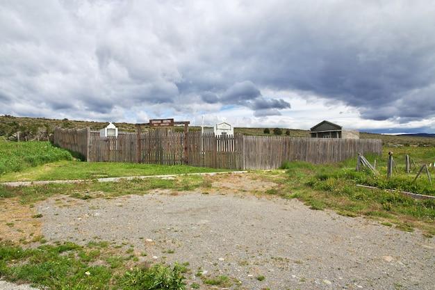 De begraafplaats in het dorp in patagonië, chili