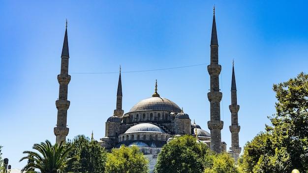 De blauwe moskee in istanboel, turkije.