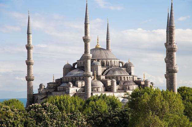 De blauwe moskee istanbul turkije sultanahmet park sultan ahmed ottomaanse rijk