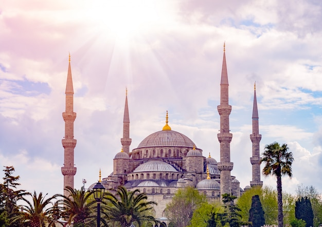 De blauwe moskee, istanbul, turkije