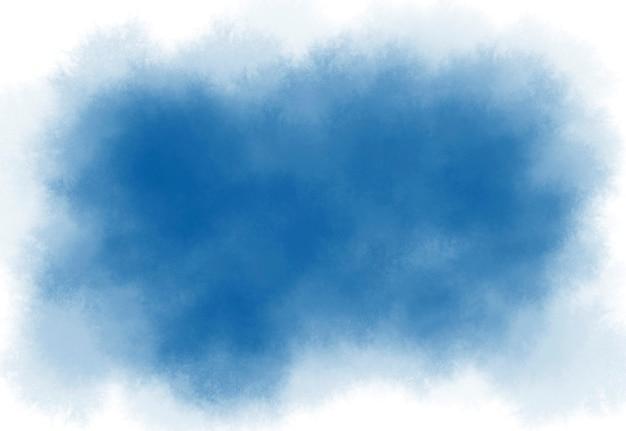 De blauwe waterverfborstel strijkt textuurachtergrond met exemplaarruimte
