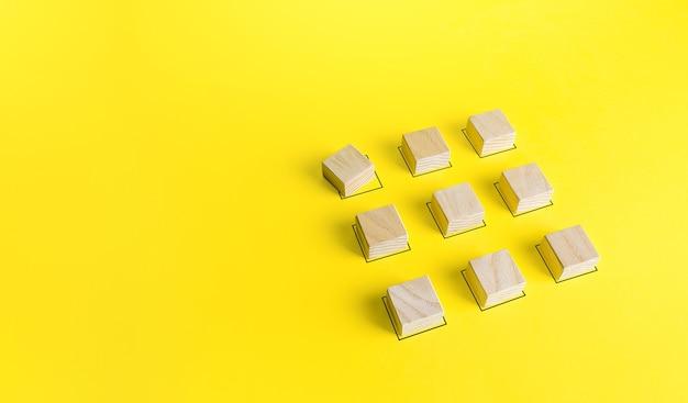 De blokken staan in de juiste volgorde, behalve één mislukte storing van de bestelling