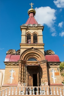 De bouw van de orthodox-christelijke kerk