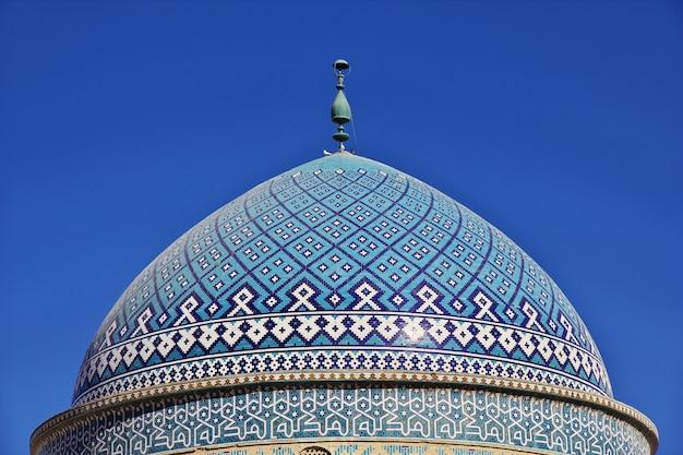 De bouw van de oude stad yazd in iran