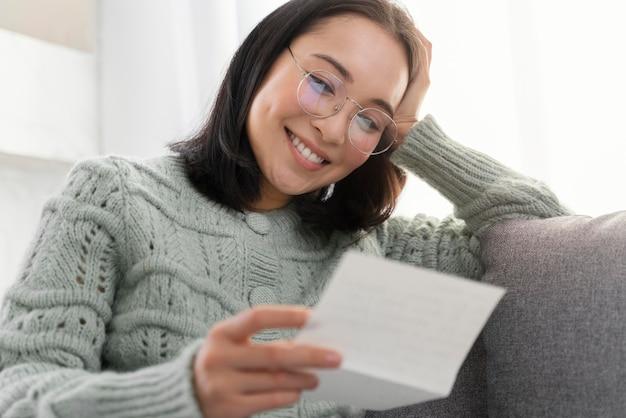 De brief van de de vrouwenlezing van het portret
