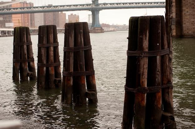 De brug van manhattan in de stad van manhattan, new york, de vs