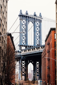 De brug van manhattan in new york