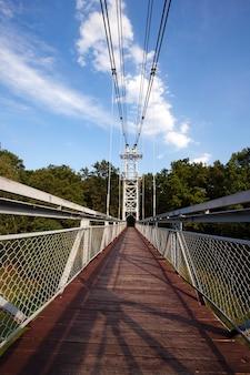 De brug was bedoeld voor het verplaatsen van voetgangers. wit-rusland