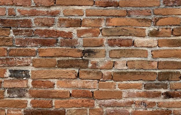 De bruine achtergrond van de baksteen dichte omhooggaande textuur