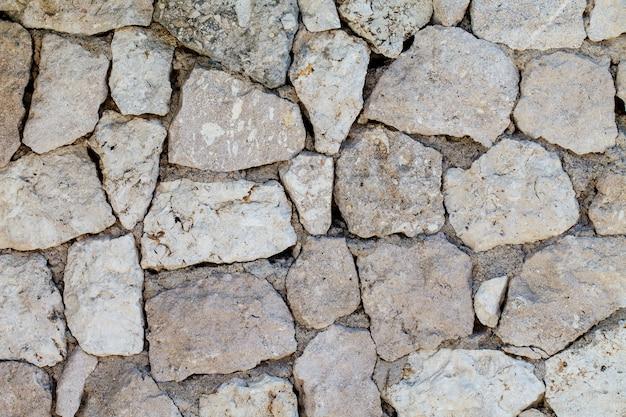 De buitenmuur van grote stenen