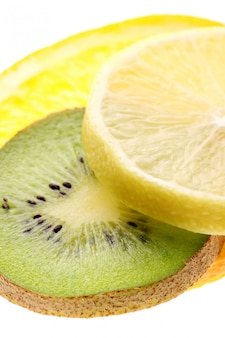 De citrusvruchten snijdt dicht omhoog