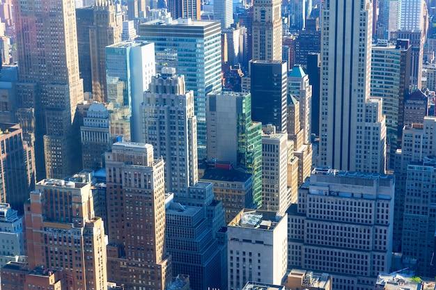 De close-up van de binnenstad van new york